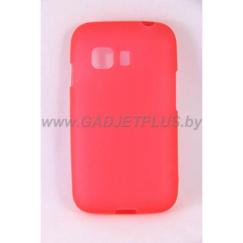 Samsung G130 Galaxy Young 2 чехол-накладку силиконовый JUST, красный матовый