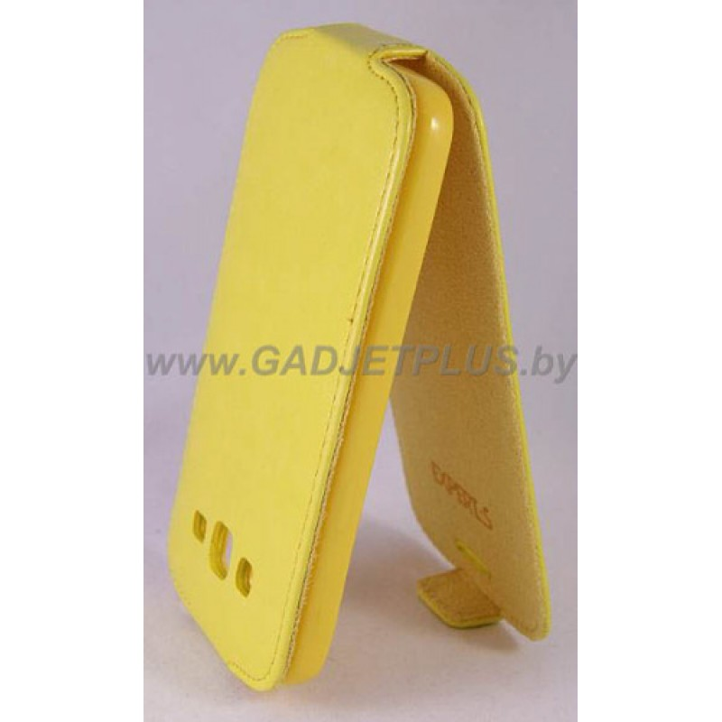 Samsung Galaxy Grand 2 Duos i7102 чехол-блокнот Experts Slim Flip Case, жёлтый