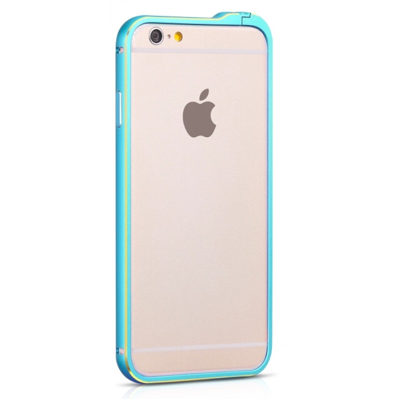 для iPhone 6 (4,7) алюминевый бампер Hoco Blade series Fedora blue