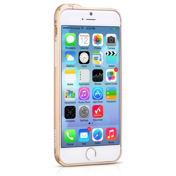 для iPhone 6 (4,7) алюминевый бампер Hoco Blade series Fedora golden