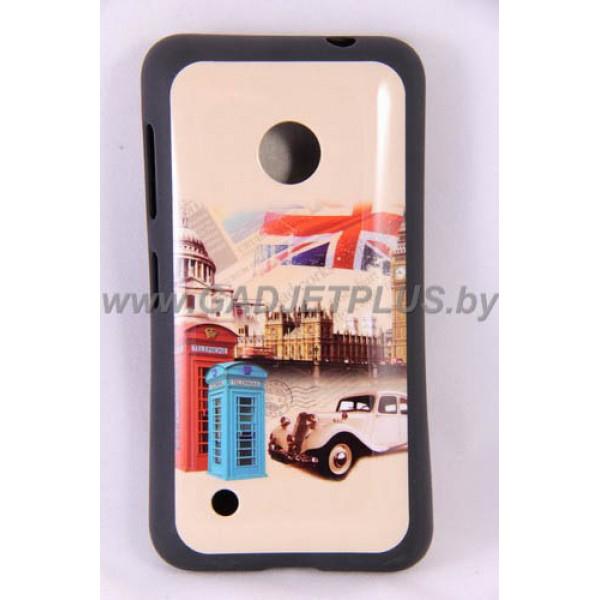 Nokia Lumia 530 чехол-бампер с картинками силиконовый