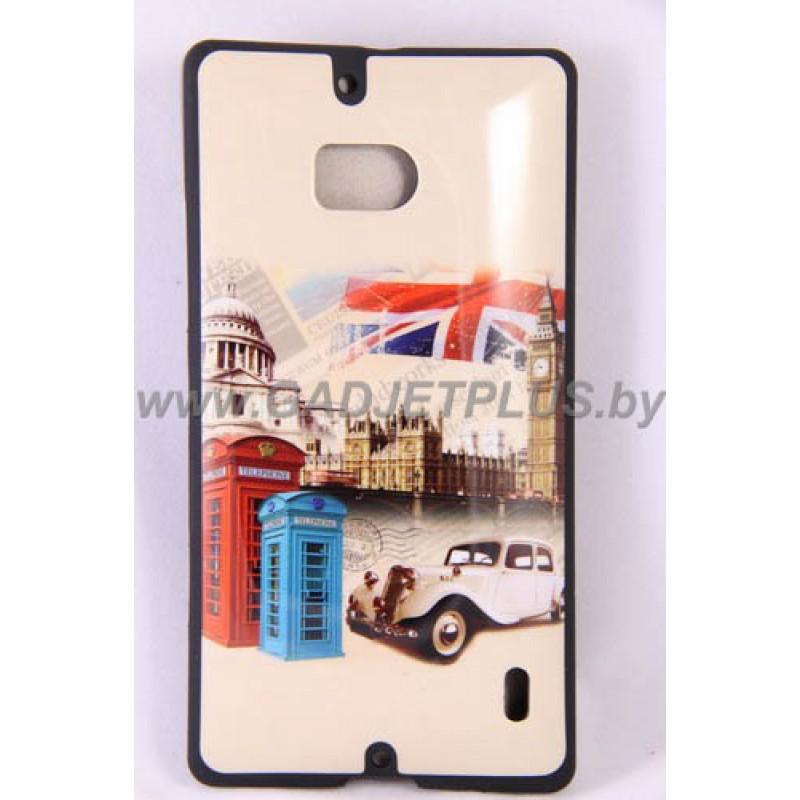 Nokia Lumia 930 чехол-бампер с картинкой Лондон силиконовый