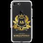 Чехол с золотым гербом и именем №3908