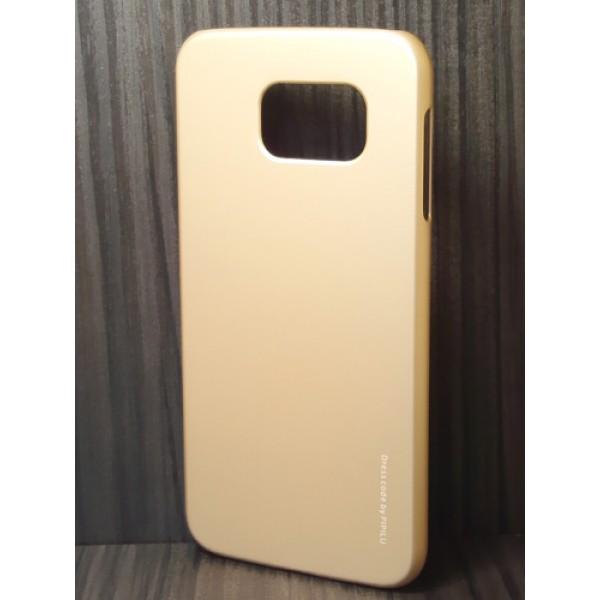 для Samsung Galaxy S6 (G920F) Чехол-накладка X-level серия Metallic золотой