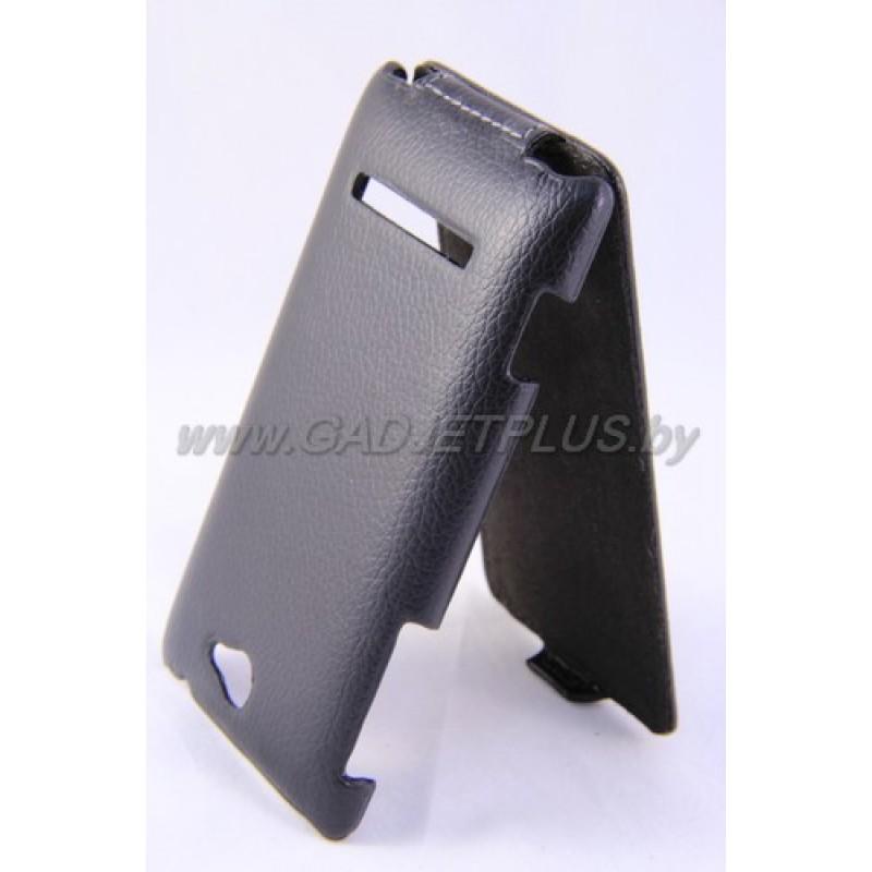 HTC Windows Phone 8S чехол-блокнот Armor, чёрный