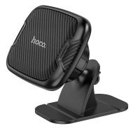 Магнитный держатель для телефона на 3М скотче Hoco CA66, черный