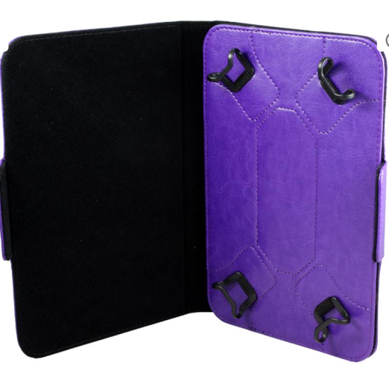 """Чехол-книга 8"""" Experts универсальный, цвет фиолетовый"""