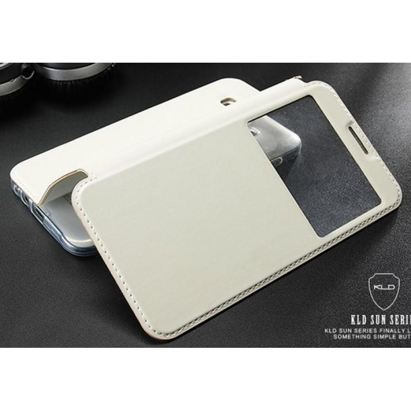 для Samsung Galaxy E5 SM-E500H/DS Чехол-книга с окном Kalaideng Sun Series белый