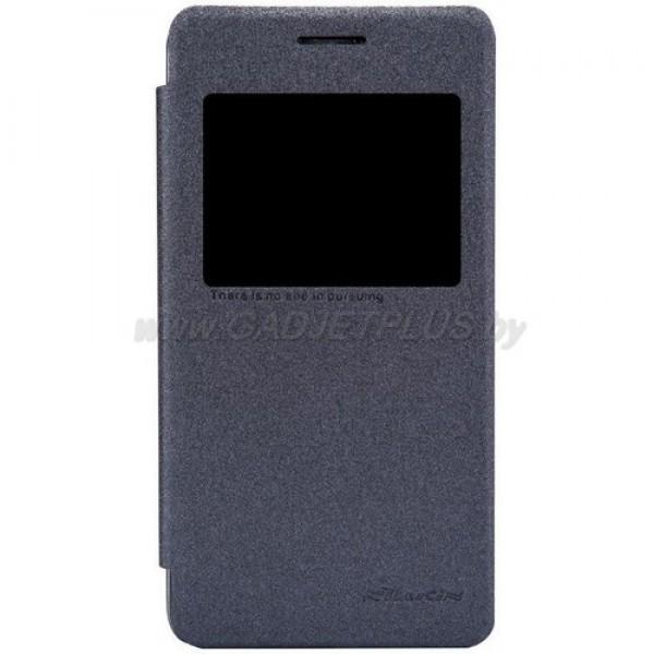 для Asus Zenfone 4 (A450CG) Чехол-книга с окном Nillkin Sparkle Series черный