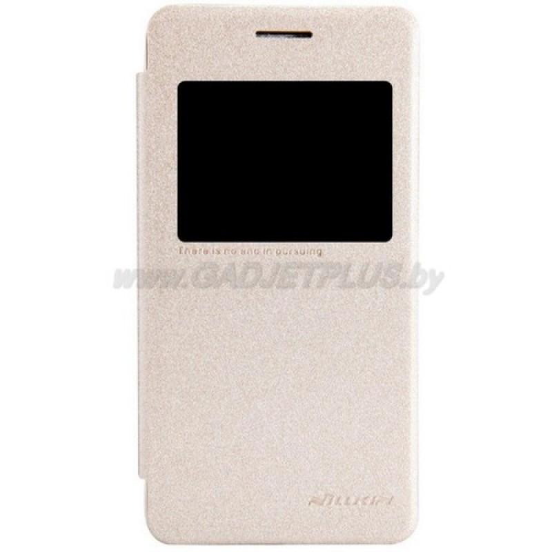 для Asus Zenfone 4 (A450CG) Чехол-книга с окном Nillkin Sparkle Series золотой