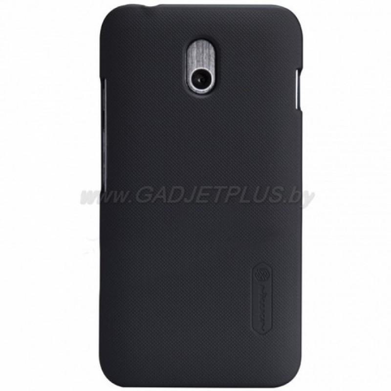 для HTC Desire 210 Чехол-накладка + пленка Nillkin Super Frosted Shield черный