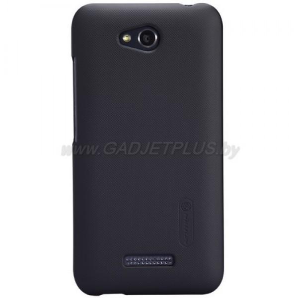 для HTC Desire 616 Чехол-накладка + пленка Nillkin Super Frosted Shield черный
