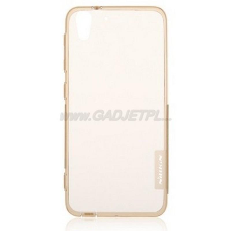 для HTC Desire EYE M910X силиконовый чехол Nillkin прозрачно-золотой