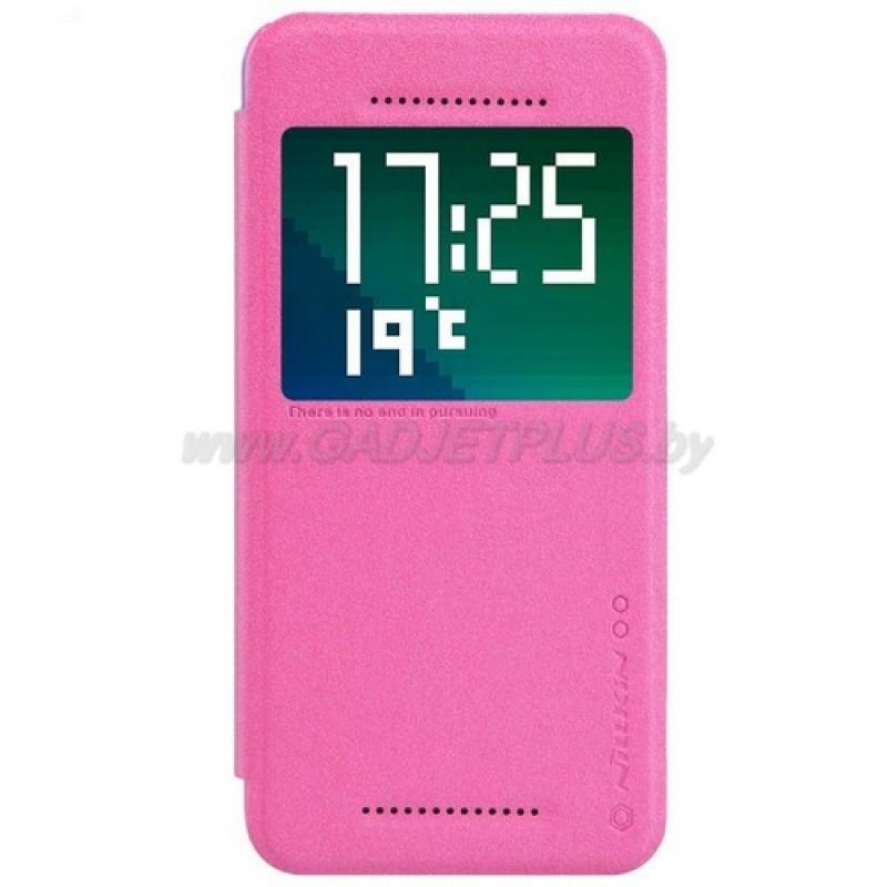 для HTC Desire Eye M910X Чехол-книга с окном Nillkin Sparkle Series красный