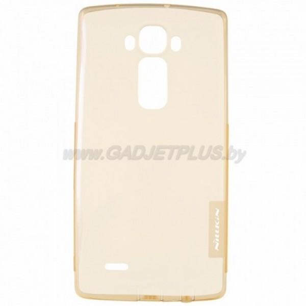 для LG G Flex 2 H959 силиконовый чехол Nillkin прозрачно-золотой