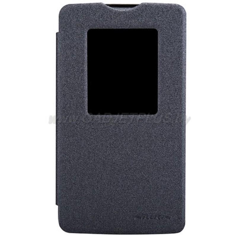 для LG L80 (D380) Чехол-книга с окном Nillkin Sparkle Series черный