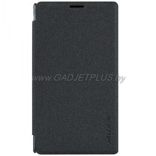 для Nokia Lumia 435 Чехол-книга Nillkin черный (Sparkle Series)