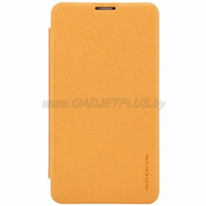 для Nokia Lumia 530 Чехол-книга Nillkin Sparkle Series оранжевый