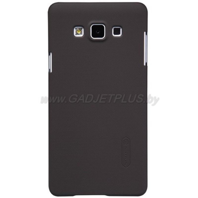 для Samsung Galaxy A7 SM-A700F Чехол-накладка + пленка Nillkin Super Frosted Shield коричневый