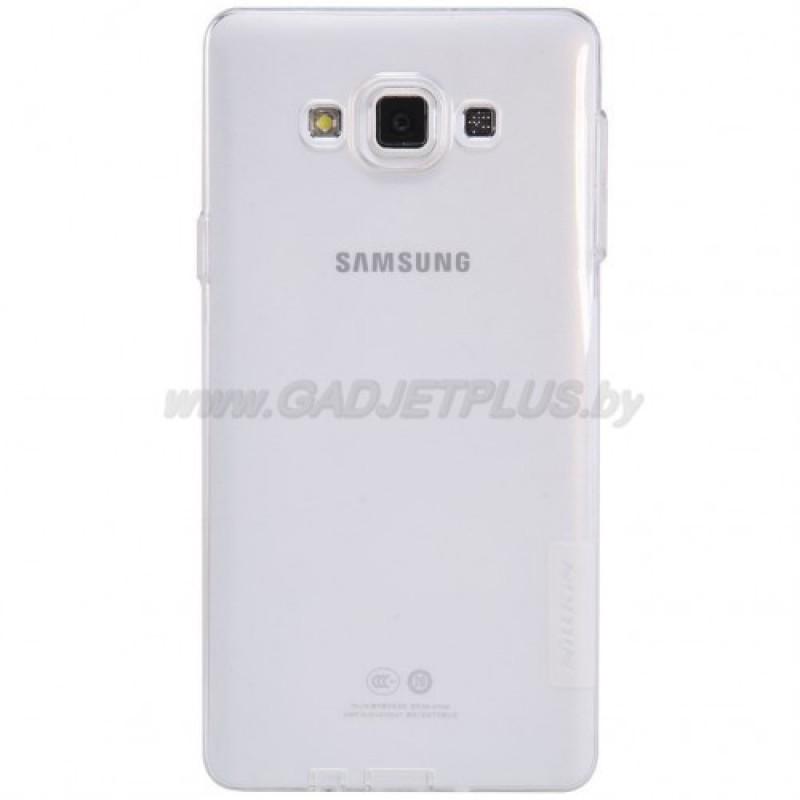 для Samsung Galaxy A7 SM-A700F силиконовый чехол Nillkin прозрачно-белый