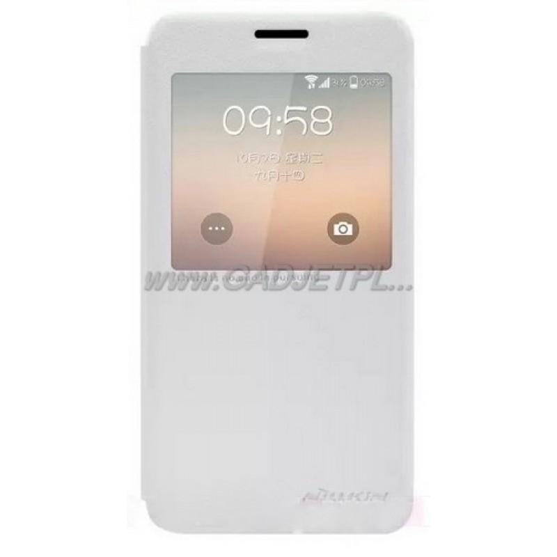 для Samsung Galaxy Alpha (SM-G850) Чехол-книга с окном Nillkin Sparkle Series белый