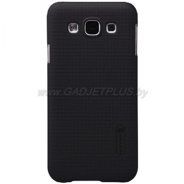 для Samsung Galaxy E5 SM-E500H/DS Чехол-накладка пленка Nillkin Super Frosted Shield черный