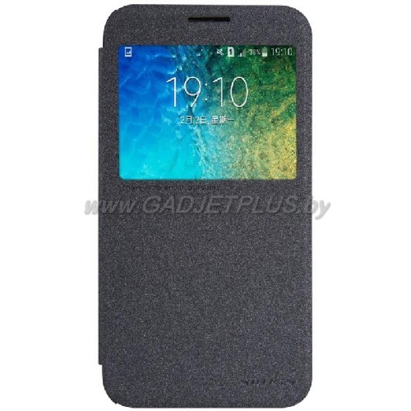 для Samsung Galaxy E5 SM-E500H/DS Чехол-книга с окном Nillkin Sparkle Series черный
