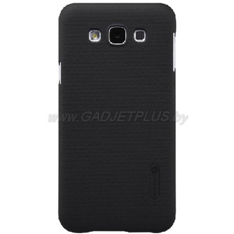 для Samsung Galaxy E7 SM-E700F Чехол-накладка пленка Nillkin Super Frosted Shield черный
