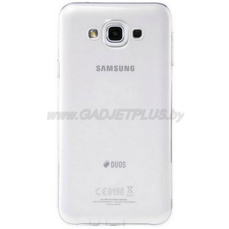 для Samsung Galaxy E7 SM-E700F силиконовый чехол Nillkin прозрачно-белый
