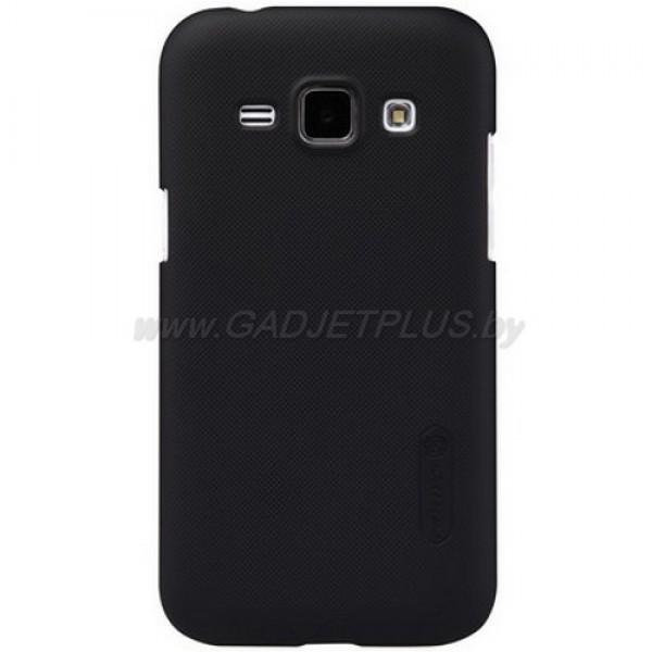 для Samsung Galaxy J1 J100H Чехол-накладка + пленка Nillkin Super Frosted Shield черный