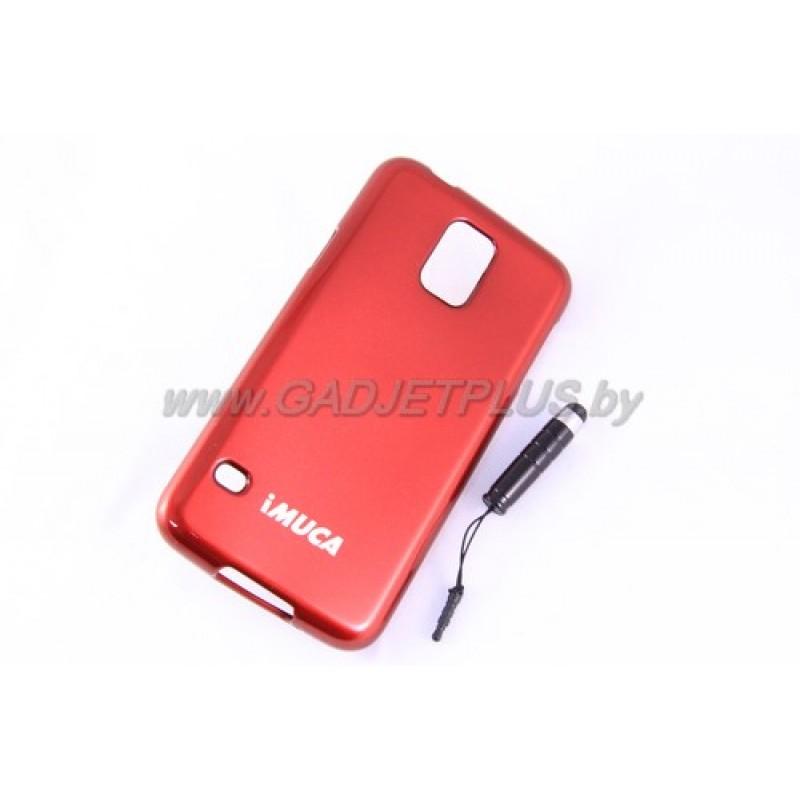 для Samsung Galaxy S5 (i9600) чехол-накладка силиконовый iMUCA, бордовый
