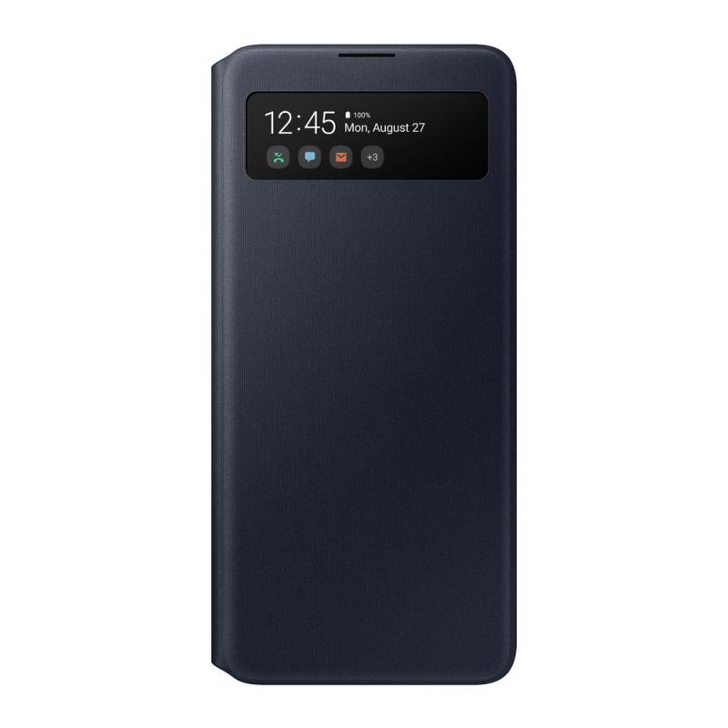 Чехол-книжка для Samsung Galaxy А51 S View Wallet Cover (EF-EA515PBEGRU), чёрный