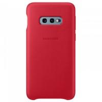 Чехол для Samsung Galaxy S10e накладка / бампер Leather Cover EF-VG970LREGRU, красный