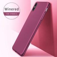 Чехол-накладка для iPhone X / iPhone 10, матовый силиконовый, X-Level, серия Guardian, цвет бордовый