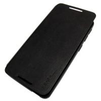 для HTC 626 чехол-книжка X-level FibColor чёрный