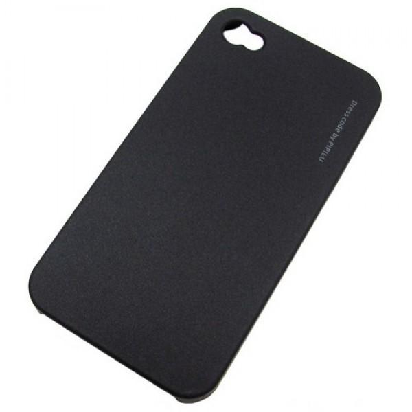для Apple iPhone 4 / 4S Пластиковый чехол-накладка Pipilu черный