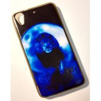 для HTC Desire 626 чехол-накладка силиконовый с картинкой №2171 СИНИЙ ЛЕВ И ЛУНА