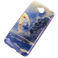для Huawei Y6 Pro чехол-накладка силиконовый с картинкой №2358
