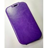 для HTC Desire 626G чехол-книжка с силиконовым основанием Experts фиолетовый
