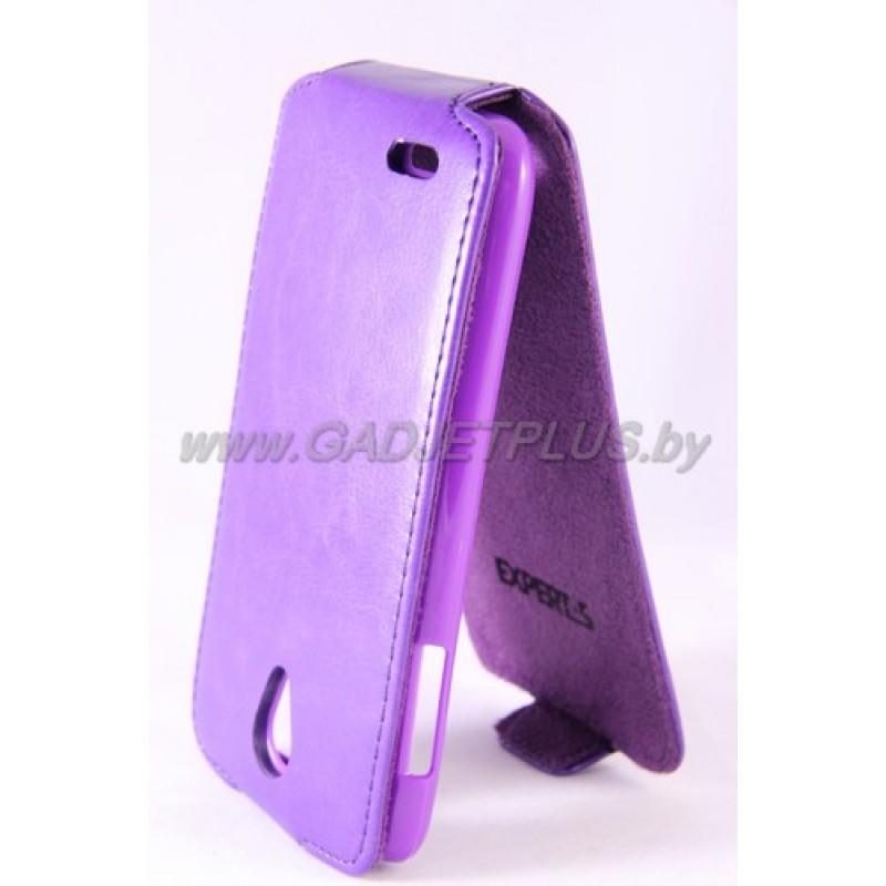 Lenovo S650 чехол-блокнот Experts Slim Flip Case, фиолетовый