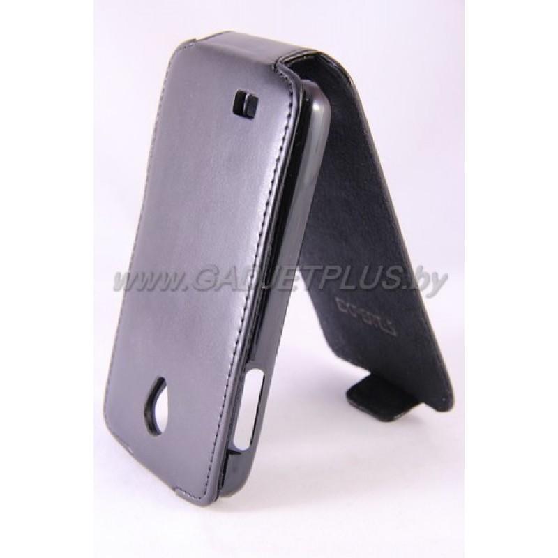 Lenovo S750 чехол-блокнот Experts Slim Flip Case, кожзам, черный
