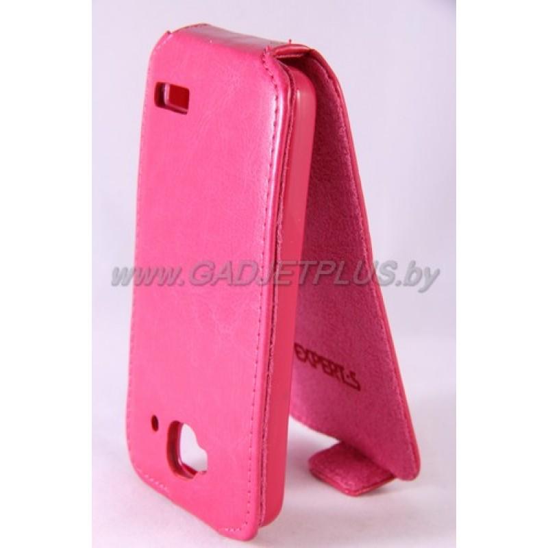 для Alcatel One Touch Idol Mini 6012X Чехол-блокнот Experts Slim Flip Case розовый