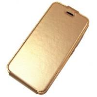 для Huawei Y6 Pro чехол-блокнот с силиконовым основанием Experts золотой
