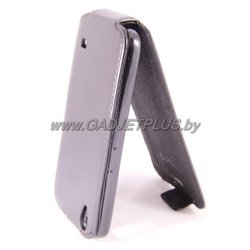 для Huawei Ascend G620s Чехол-блокнот Experts Slim Flip Case чёрный