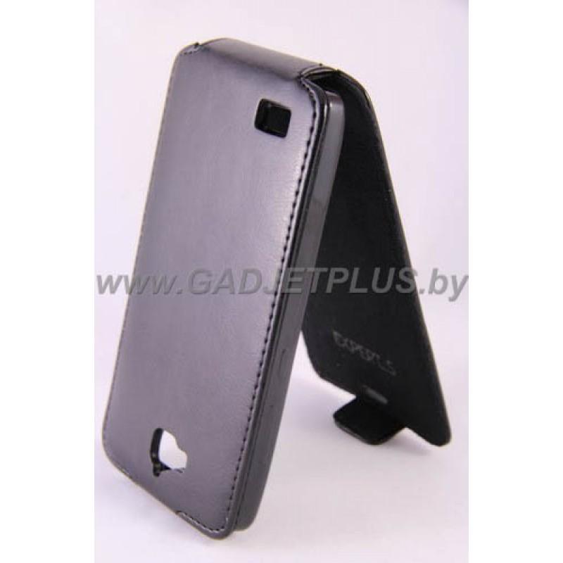 для Huawei Honor 3C Чехол-блокнот Experts Slim Flip Case черный