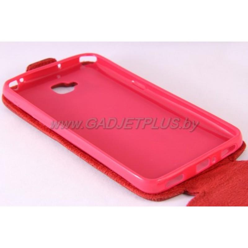для LG G Pro Lite (D684,D686) Чехол-блокнот Experts Slim Flip Case красный