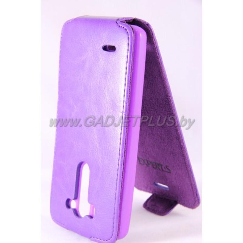 для LG G3 S/G3 mini (D724) Чехол-блокнот Experts Slim Flip Case фиолетовый
