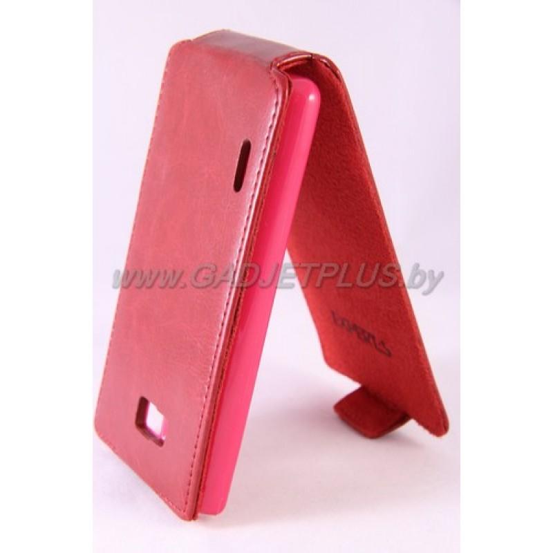 для LG Optimus L7 (P705) Чехол-блокнот Experts Slim Flip Case красный