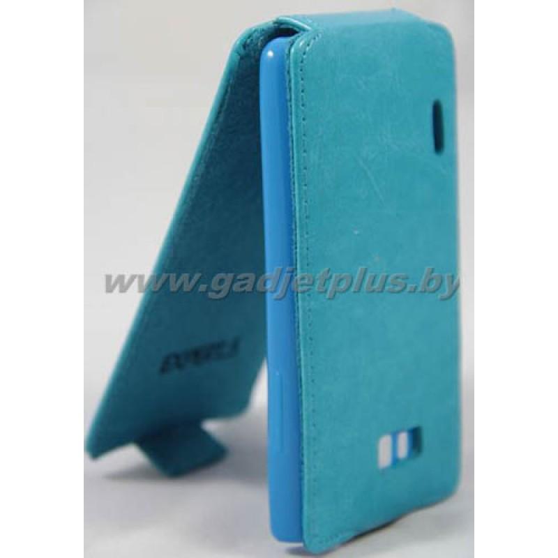 для LG Optimus L7 (P705) Чехол-блокнот Experts Slim Flip Case голубой