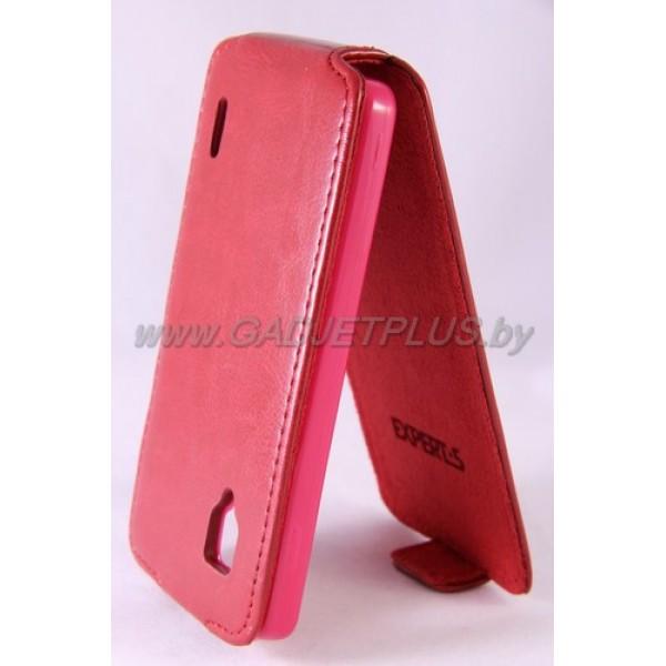 для LG Optimus G (E973) Чехол-блокнот Experts Slim Flip Case красный